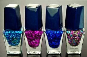 esmaltes con glitter para hacer Nail Art