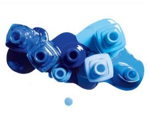 Ejemplos de decoracion de unas en tonos azules