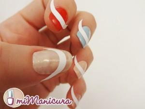 Como hacer manicura francesa con colores