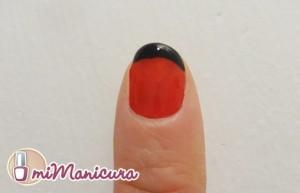 Manicura Francesa en rojo y negro