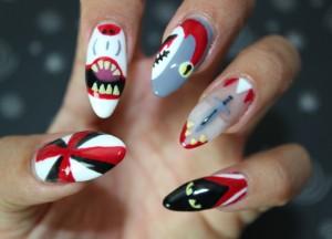 Diseño de uñas Halloween
