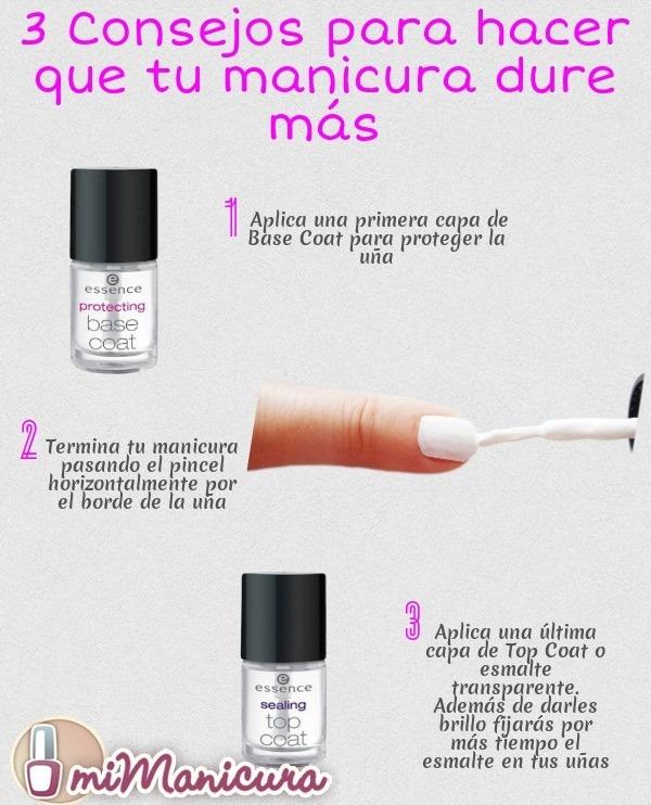 trucos para que las uñas duren mas tiempo pintadas