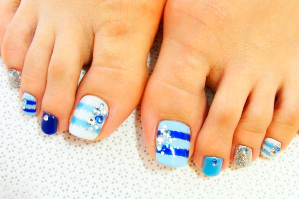 decorado nail art pedicura
